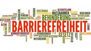 Schriftzug Barrierefreiheit