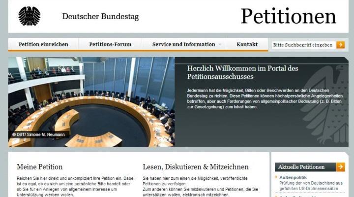 Petitionsportal des Bundestages