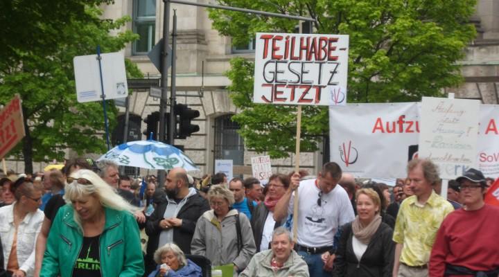Demonstration am Europäischen Protesttag zur Gleichstellung behinderter Menschen am 5. Mai 2015 in Berlin