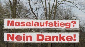 """Transparent """"Nein zum Moselaufstieg"""""""