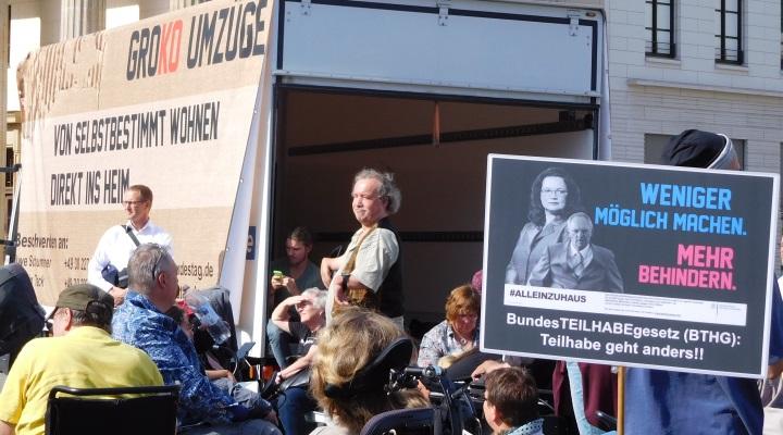 Protest gegen das Bundesteilhabegesetz am 22. September 2016 in Berlin