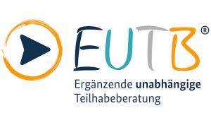 EUTB-Logo: ein eingekreister Pfeil gefolgt vom Schriftzug EUTB, darunter steht: Ergänzende unabhängige Teilhabeberatung